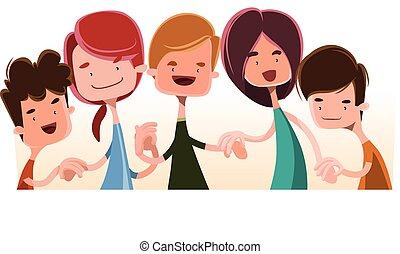 bambini tengono mani
