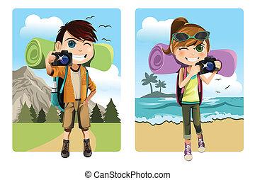 bambini, viaggiare
