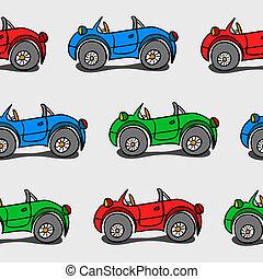 bambino, automobili, seamless, fondo