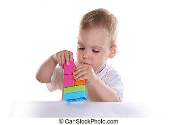 bambino, blocchi giocattolo, 2