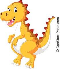 bambino, carino, dinosauro