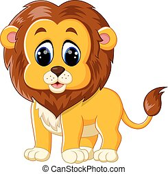 bambino, carino, leone, carrello