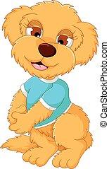 bambino, carino, proposta, cartone animato, orso