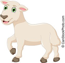 bambino, carino, proposta, goat, cartone animato