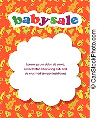 bambino, colorito, vendita, fondo