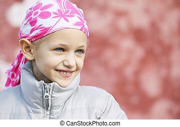 bambino, con, cancro