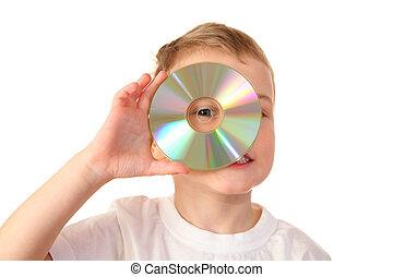 bambino, con, cd