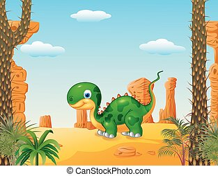 bambino, dinosauro, carino