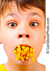 bambino, e, fast food