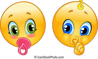 bambino, emoticons