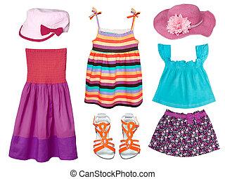 bambino, estate, moda, clothes.