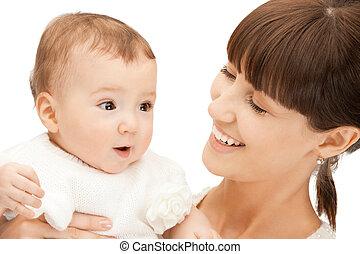 bambino, felice, adorabile, madre