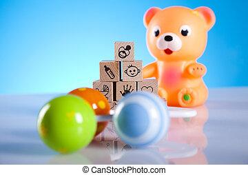 bambino, giocattoli