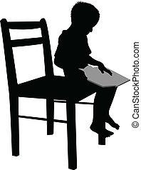 bambino, lettura
