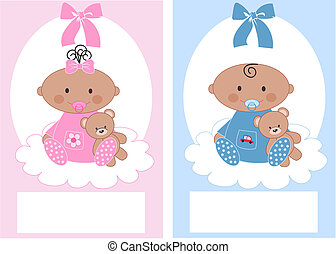 bambino neonato, ragazza, ragazzo