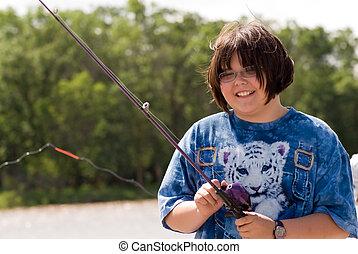 bambino, pesca