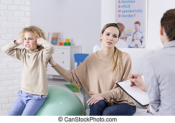 bambino problema, disperato, madre