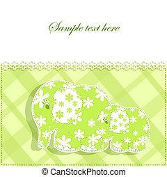 bambino, scheda, elefanti