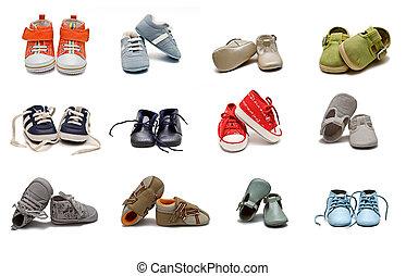 bambino, shoes.