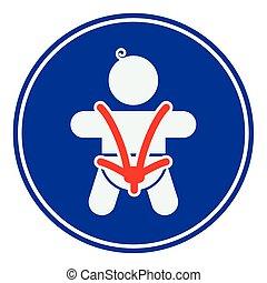 bambino, sicurezza, cintura sicurezza