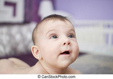 bambino, sorridente