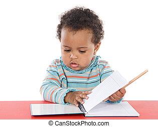 bambino, studiare, adorabile