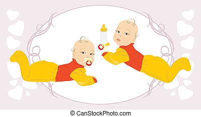 bambino, twins.