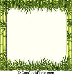bamboe, concept, thema, frame