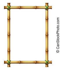 bamboe, frame, leeg