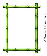 bamboe, groene, frame