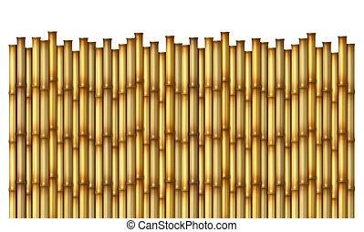 bamboe, omheining