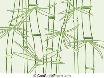 bamboe, vector, achtergrond