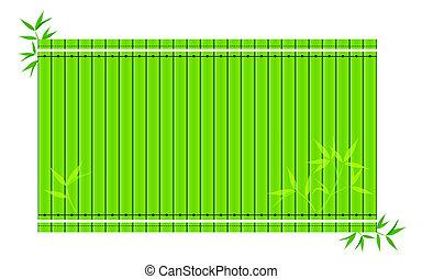 bamboe, vector, slip