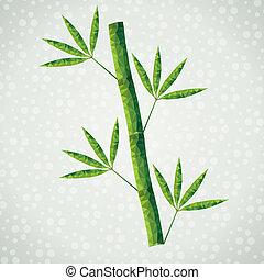 bamboe, vector, tak