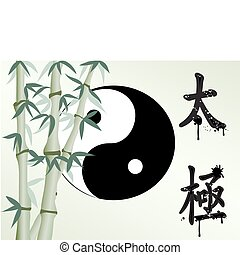 bamboe, zen, zoals