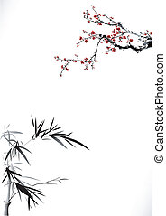 Bamboo and blossom