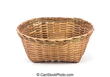 bamboo basket on a white background.