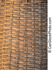 Bamboo basket work handmade natural asian design background