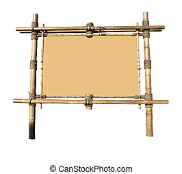 Bamboo Billboard With Area For Text (with clipping path for easy background removing if needed)