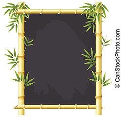 Bamboo blackboard frame concept