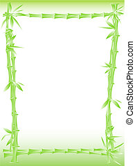 bamboo border - Illustration of bamboo border with copy...