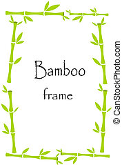 Lucky bamboo frame background