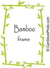 Bamboo border - Lucky bamboo frame background