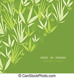 Bamboo branches corner template pattern background