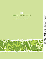 Bamboo branches horizontal card seamless pattern background