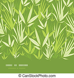 Bamboo branches horizontal seamless pattern background
