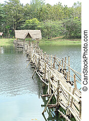 Bamboo bridge.