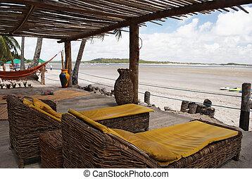 bamboo cabin at the beach