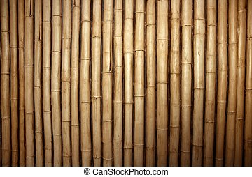 Bamboo cane row arrangement background