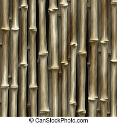 bamboo cluster - cluster of bamboo plants - abstract art
